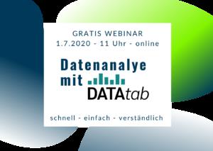 Gratis Webinar Datenanalyse mit DATAtab